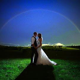 Love is a rainbow by Debra Melton - Wedding Bride & Groom ( bridal portraits, wedding day, wedding, bride and groom, bride )