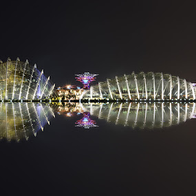 GBTB Flower Dome Reflection by Kafoor Sammil - Buildings & Architecture Public & Historical