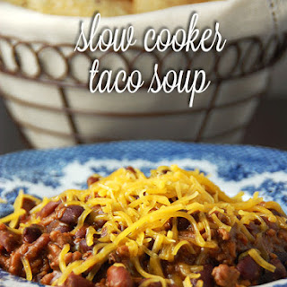 Slow Cooker Taco Soup.