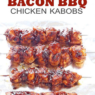 Bacon BBQ Chicken Kabobs