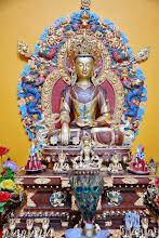 Photo: The Main statue - Medicine Buddha greets visitors at the Medicine Buddha Shrine of the Sowa Rigpa Medical Institute.