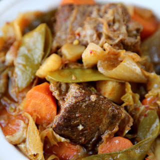 Slow Cooker Short Ribs with Kimchi