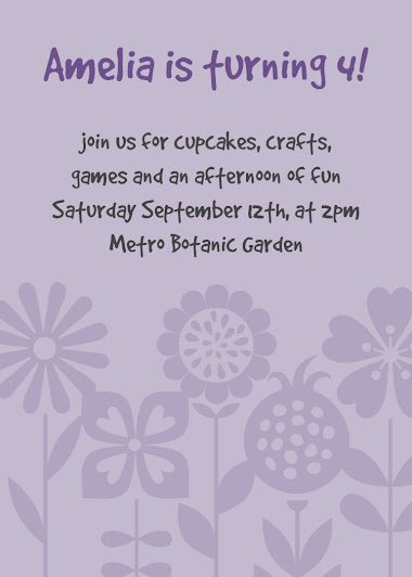 Birthday Invitation Adorable Florable