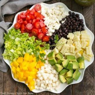 Mexican Chopped Salad with Cilantro Vinaigrette.