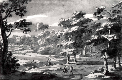 Forest Clearing with Figures