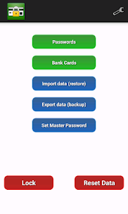 My Safe - password manager - náhled