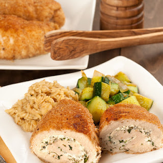 Herbed Goat Cheese Stuffed Chicken Breasts.