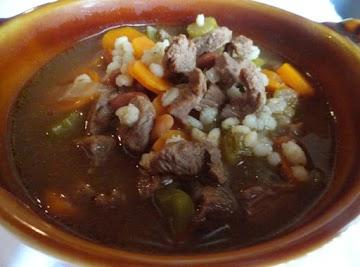 Mom's Beef Barley Soup Recipe
