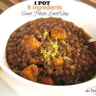 1 Pot Sweet Potato Lentil Soup