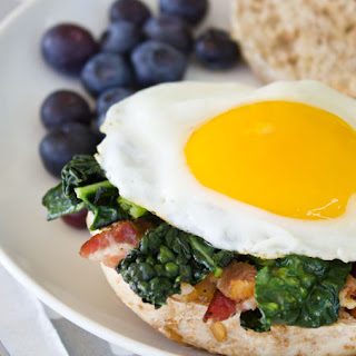 Kale & Bacon Breakfast Bagel.