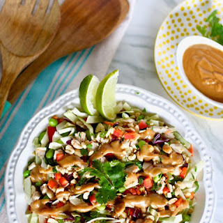 Thai Chicken Salad with Peanut Dressing.