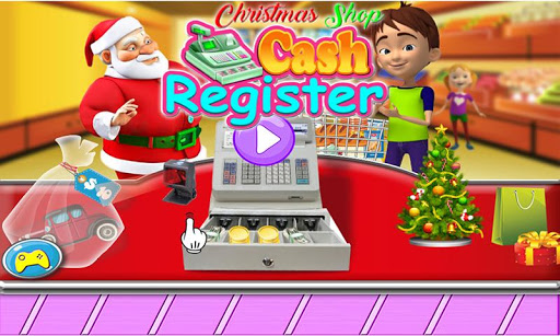 圣诞节商店收款机