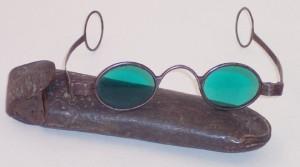 Gafas de sol antiguas un equipo de protección individual