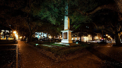 Photo: Greene Square in Savannah, GA  I stumbled across plenty of squares while walking through Savannah one evening. This one goes back to 1799 to honor Major General Nathanael Greene - a man who is of absolutely no relation to me.  If you like this photo, there are more like it on my blog at http://williambeem.com.