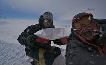 Photo: FIRST POLISH TEAM ON THE MAIN SUMMIT OF MOUNT LOGAN.