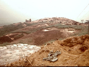 Photo: From TOC towards 1/5 Cav location on LZ Peanuts (Brown Photo).