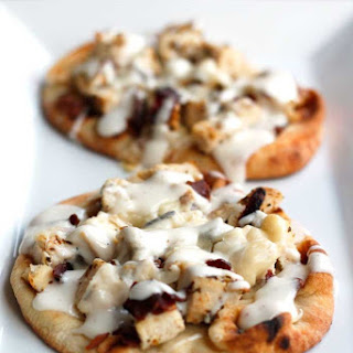 Chicken Bacon Ranch Naan Pizzas