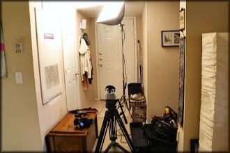 Photo: Carlisle checks out the setup when CNN came to interview me.