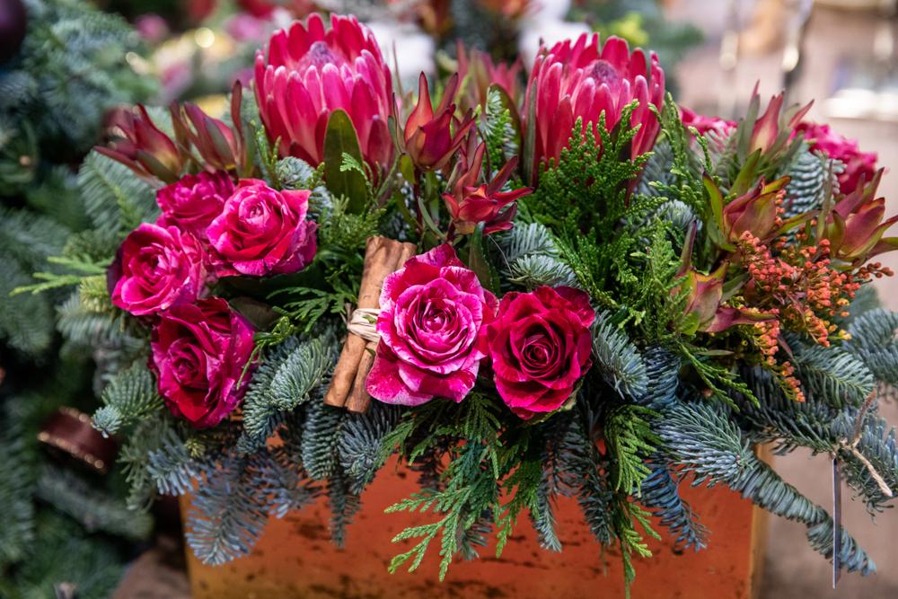 Christmas Wild Flower Centerpiece Aussie World Flowers