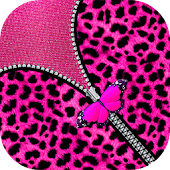 Pink Girly Leopard Zip Lock