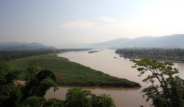 Photo: Day 340 - The Golden Triangle (Standing in Thailand, Myanmar is the Point and Ruak River to the Left, Laos on the Right)