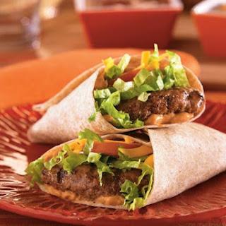 Tex-Mex Burger Wraps