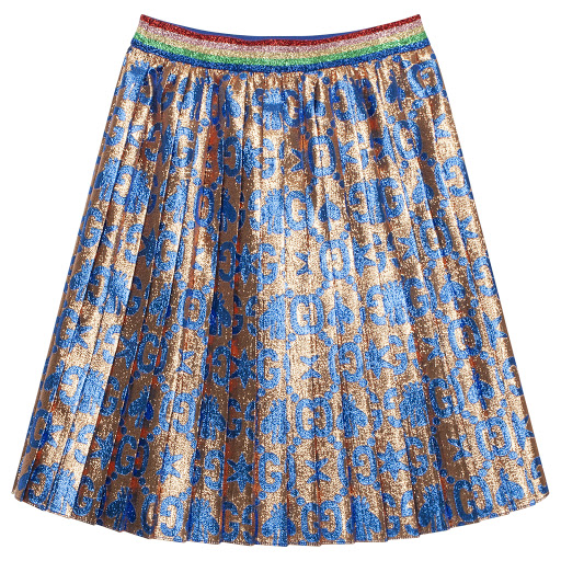 Thumbnail images of Gucci Pleated Glitter Skirt