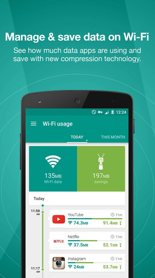 Opera Max - Data savings- screenshot