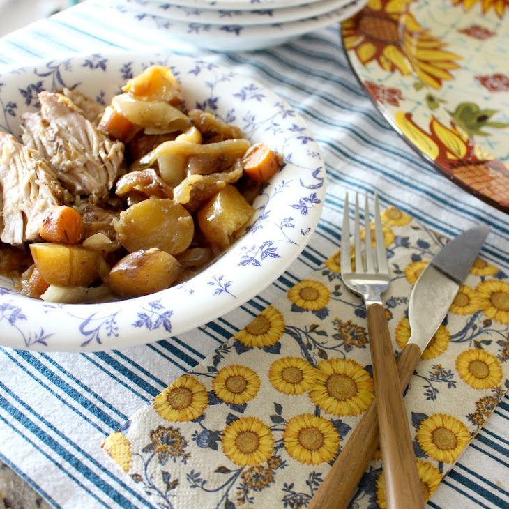 Slow Cooker Pork Loin with Apples Recipe