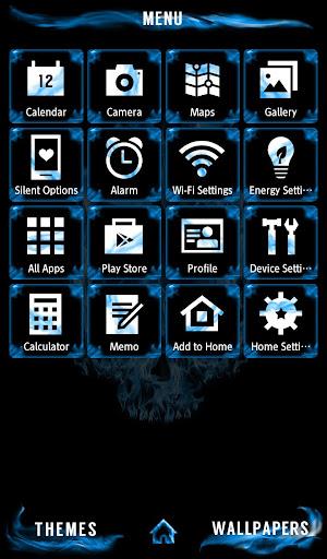 Cool Wallpaper Blue Flame Skull Theme 1.0.0 Windows u7528 2