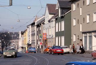 Photo: Vor dem Ausbau der Universitätsstraße mit U-Bahn.