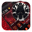 Red Tech skull theme icon