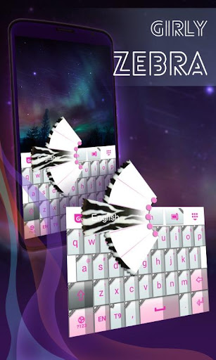 Girly Zebra Keyboard