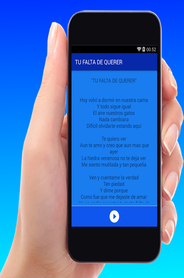 Mon Laferte - Tu Falta De Querer - Android Apps on Google Play