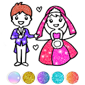 Glitter Wedding Coloring Book - Drawing Pages icon