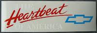 Dekal Chevrolet Heartbeat transparent