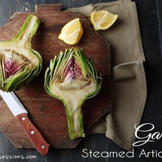 Garlicky Steamed Artichokes