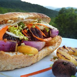 Grilled Teriyaki Mushroom Meatball Sandwiches