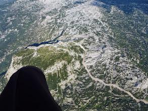 Photo: Perfekt überhöht über den Krippenstein, wo sich noch jede Menge getan hat.