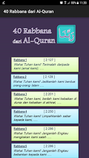 40 Rabbana dari Al-Quran - náhled