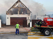 Several homes were destroyed in a blaze in St Francis Bay on Thursday.