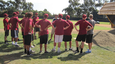 Photo: Going over w/ the team the plan of attack for top-dressing.