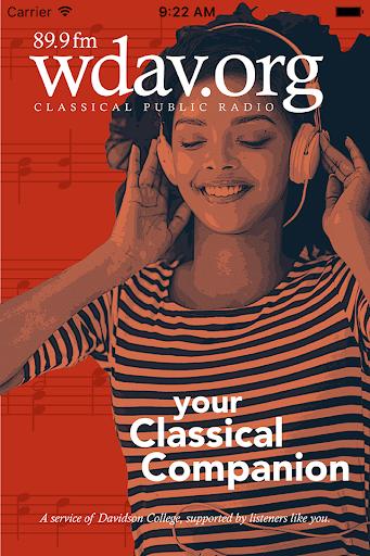 wdav classical public radio app screenshot 1