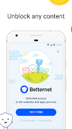 VPN Free - Betternet Hotspot VPN & Private Browser APK screenshot thumbnail 1