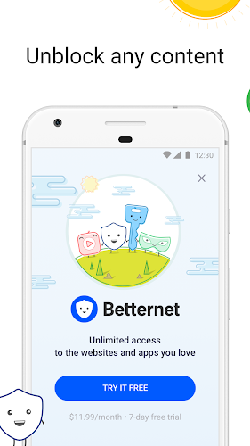 VPN Free - Betternet Hotspot VPN & Private Browser Android App Screenshot