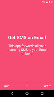 SMS to Email screenshot