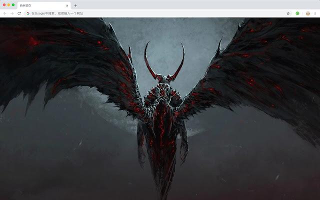 Devil Hot Anime New Tab HD Wallpaper Theme
