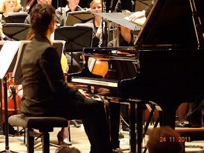 Photo: Alessandro Soccorsi vlak voor het begin van het 2e Pianoconcert in A van Franz Liszt