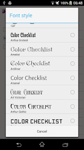 Color Checklist screenshot 2