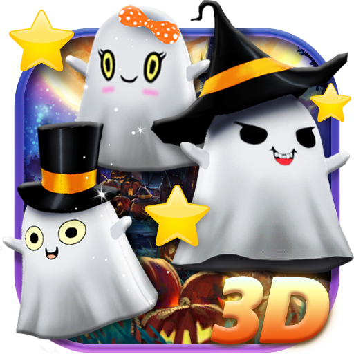 3D Halloween Ghost Theme
